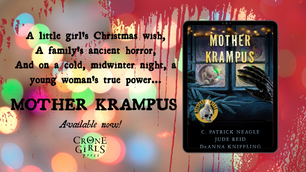 """Promotional graphic that reads """"A little girl's Christmas wish, a family's secret horror, and on a cold, midwinter night, a young woman's true power"""""""